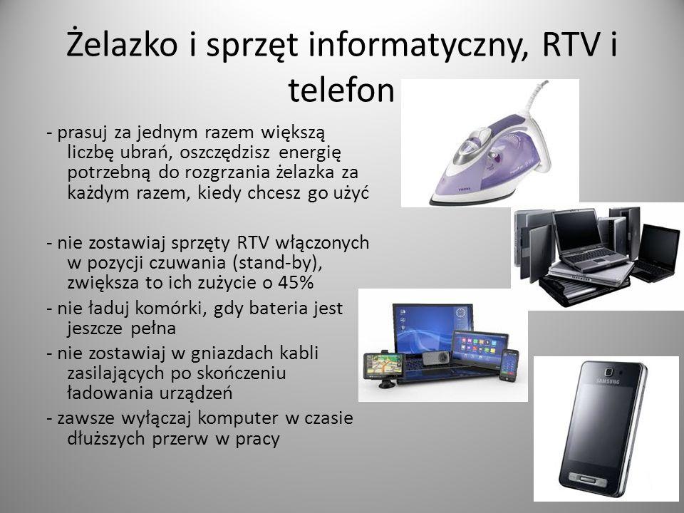 Żelazko i sprzęt informatyczny, RTV i telefon