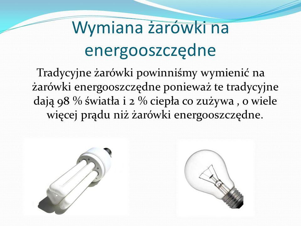 Wymiana żarówki na energooszczędne