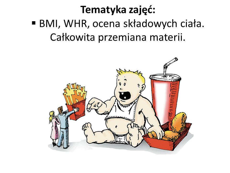 BMI, WHR, ocena składowych ciała. Całkowita przemiana materii.