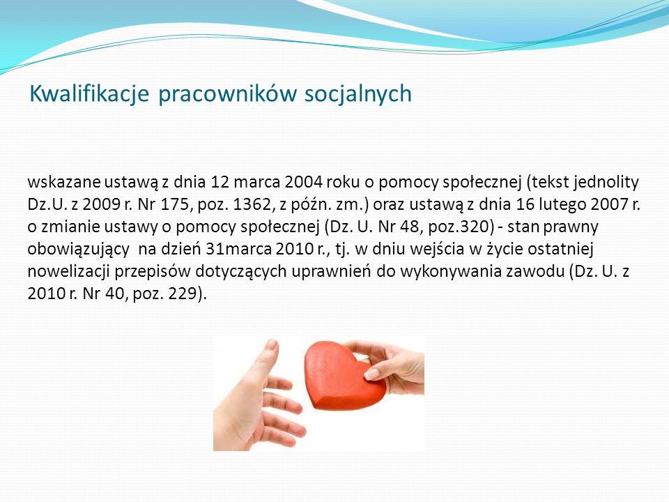 Kwalifikacje pracowników socjalnych