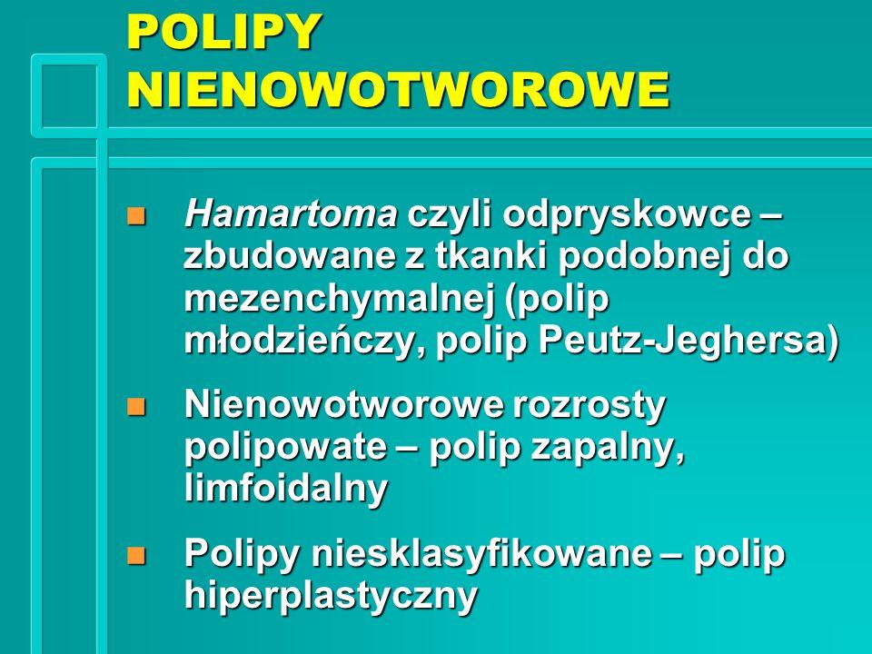 POLIPY NIENOWOTWOROWE