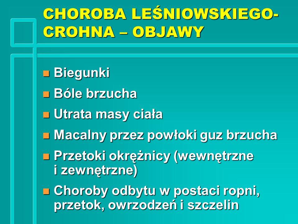 CHOROBA LEŚNIOWSKIEGO-CROHNA – OBJAWY