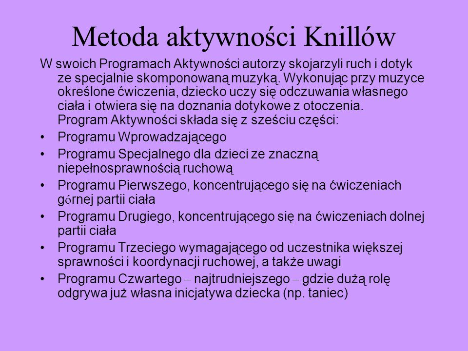 Metoda aktywności Knillów