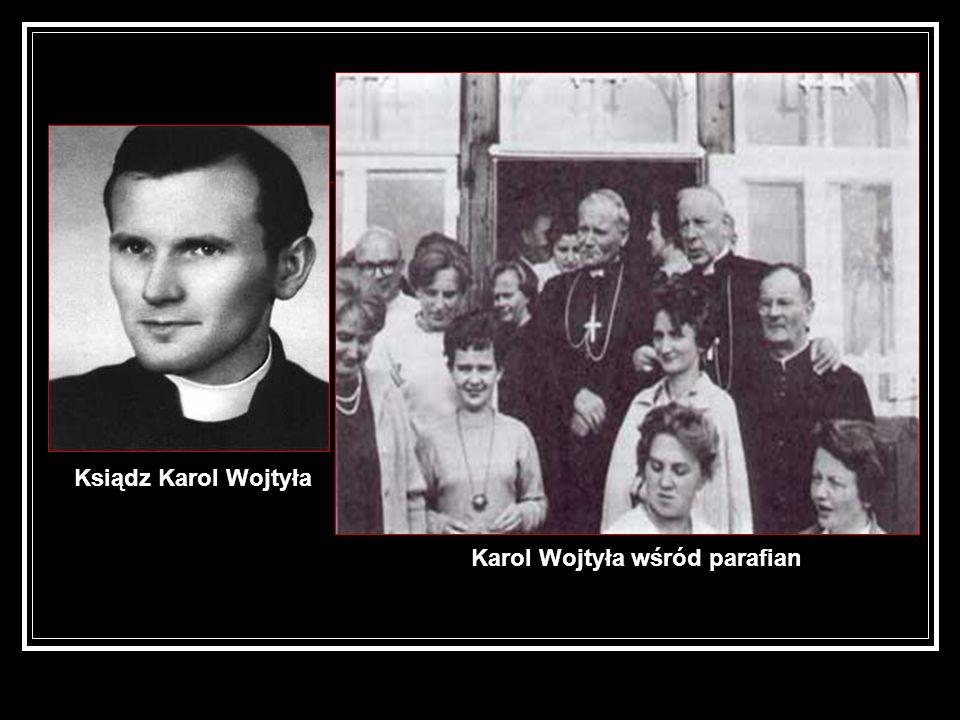Karol Wojtyła wśród parafian