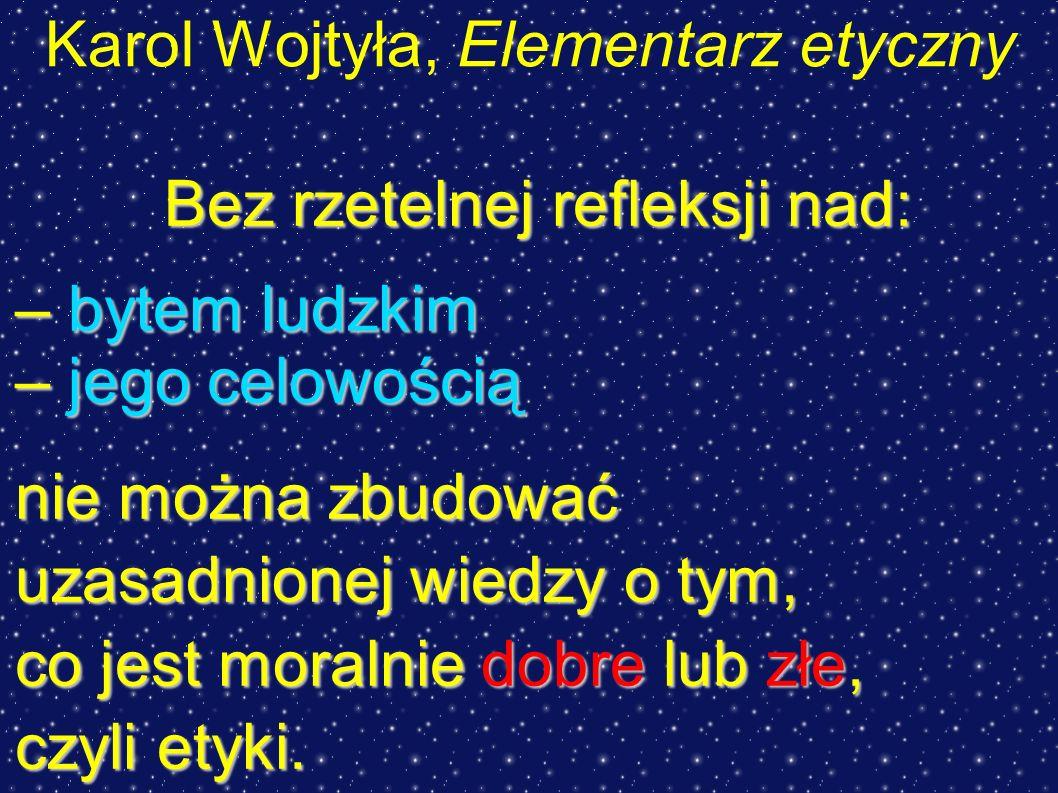 Karol Wojtyła, Elementarz etyczny