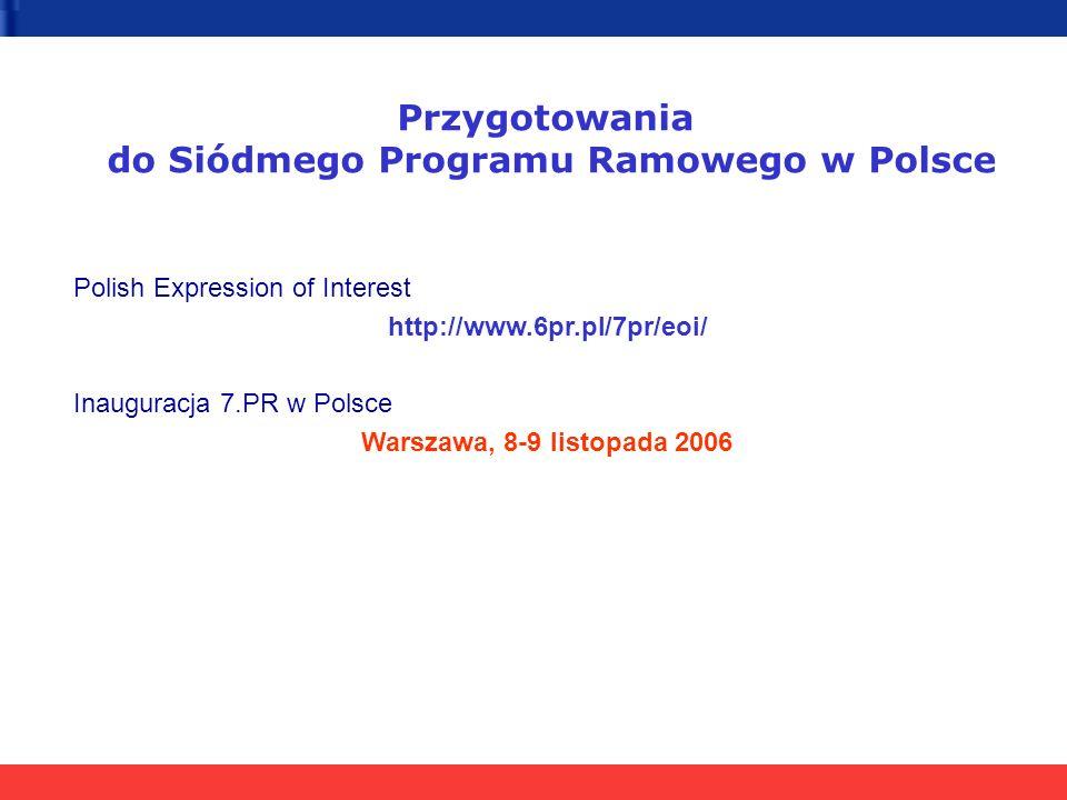 do Siódmego Programu Ramowego w Polsce