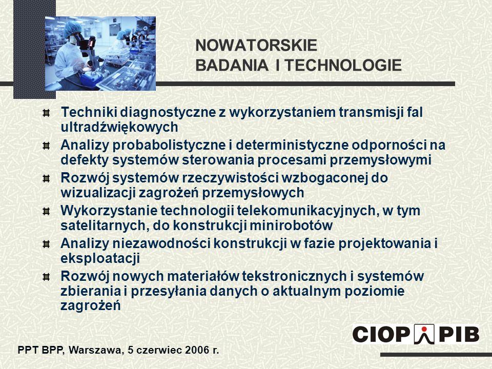 NOWATORSKIE BADANIA I TECHNOLOGIE