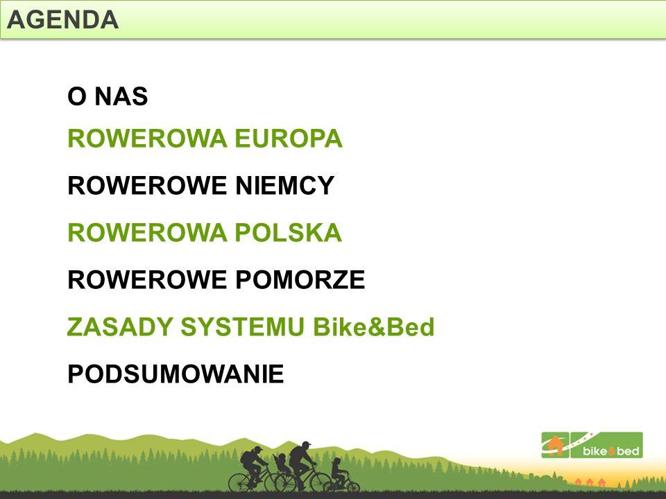 AGENDA O NAS. ROWEROWA EUROPA. ROWEROWE NIEMCY. ROWEROWA POLSKA. ROWEROWE POMORZE. ZASADY SYSTEMU Bike&Bed.