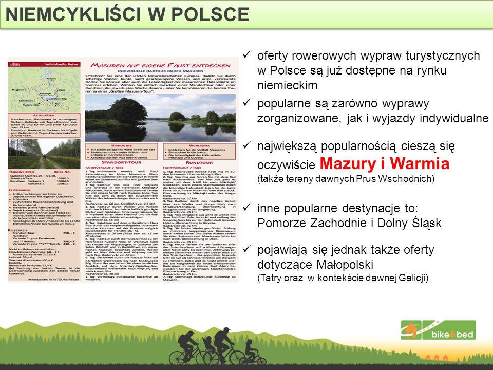 NIEMCYKLIŚCI W POLSCE największą popularnością cieszą się oczywiście Mazury i Warmia (także tereny dawnych Prus Wschodnich)