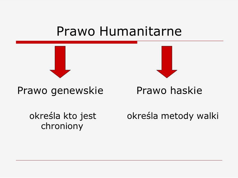 Prawo Humanitarne Prawo genewskie Prawo haskie