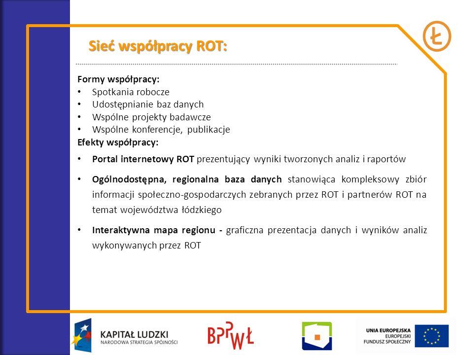 Sieć współpracy ROT: Formy współpracy: Spotkania robocze