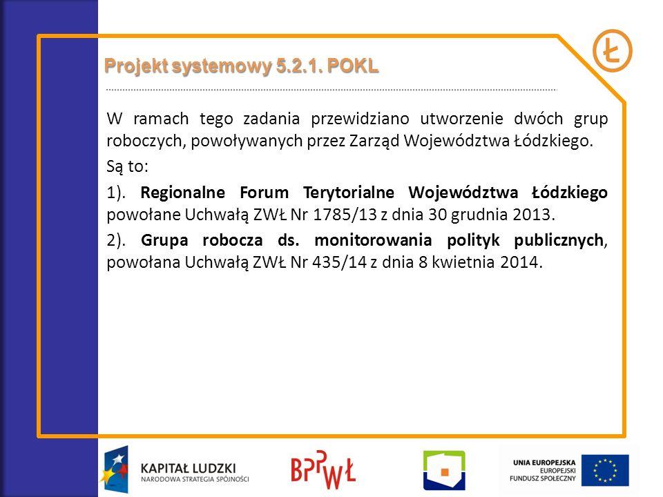 Projekt systemowy 5.2.1. POKL