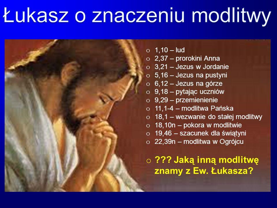Łukasz o znaczeniu modlitwy