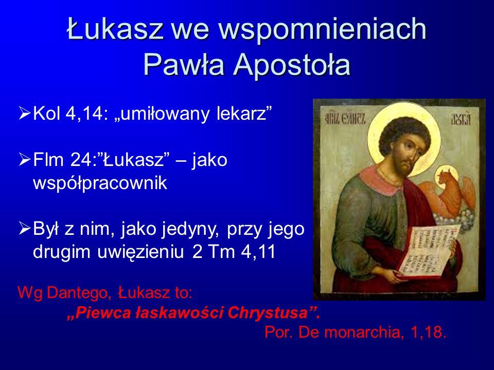 Łukasz we wspomnieniach Pawła Apostoła