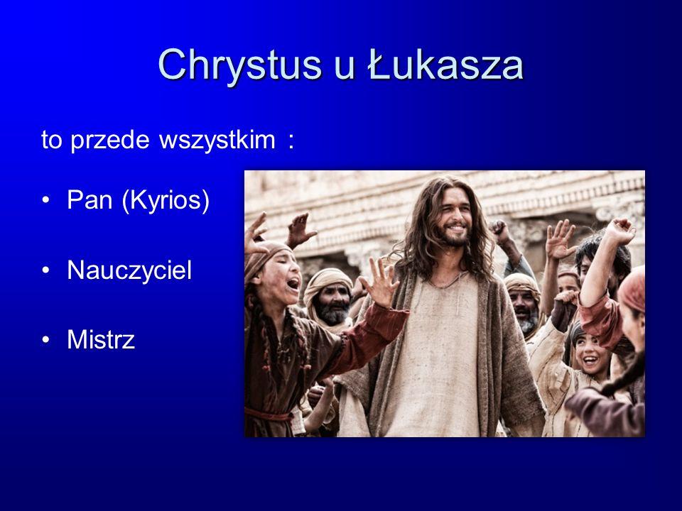 Chrystus u Łukasza to przede wszystkim : Pan (Kyrios) Nauczyciel