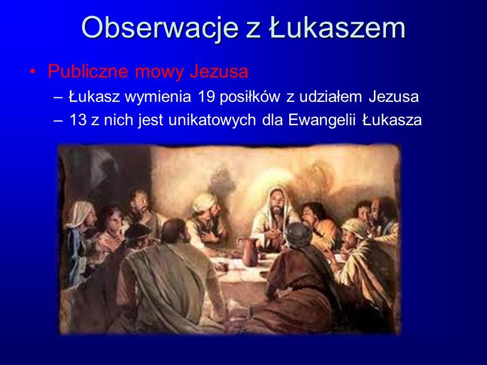 Obserwacje z Łukaszem Publiczne mowy Jezusa