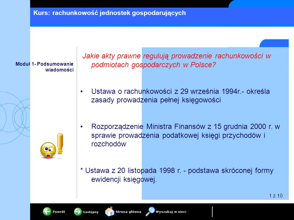 Jakie akty prawne regulują prowadzenie rachunkowości w podmiotach gospodarczych w Polsce