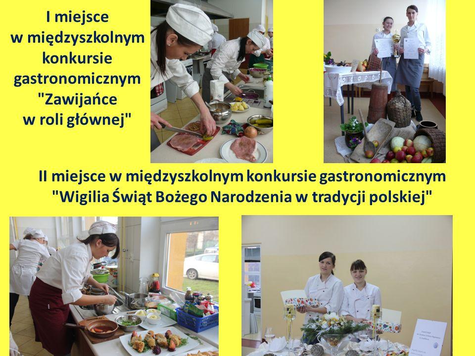 I miejsce w międzyszkolnym konkursie gastronomicznym Zawijańce w roli głównej