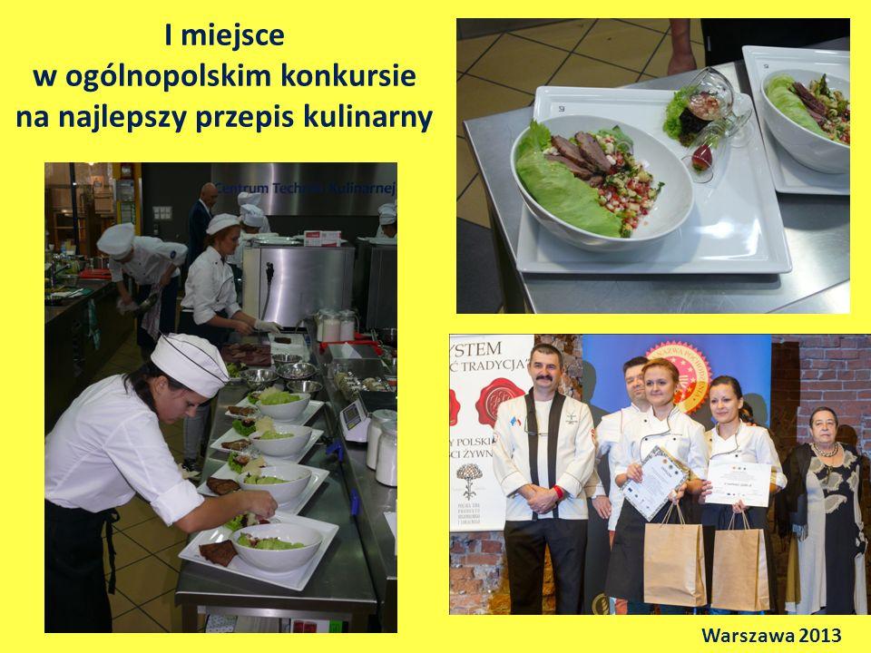 I miejsce w ogólnopolskim konkursie na najlepszy przepis kulinarny