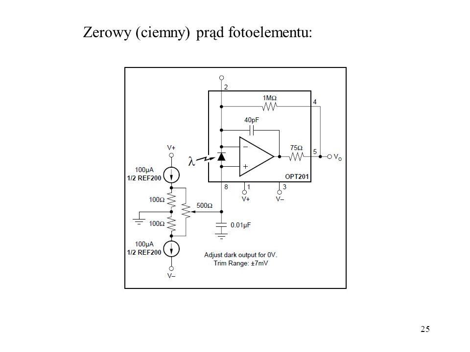 Zerowy (ciemny) prąd fotoelementu: