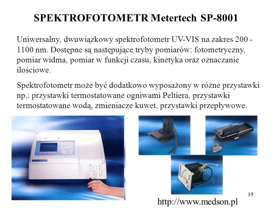SPEKTROFOTOMETR Metertech SP-8001