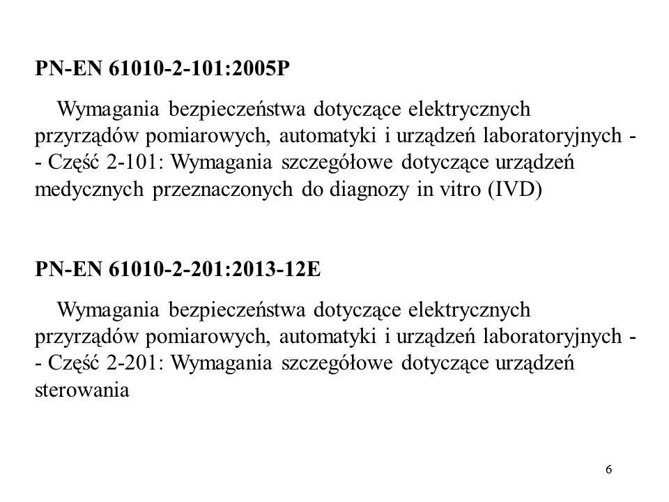 PN-EN 61010-2-101:2005P