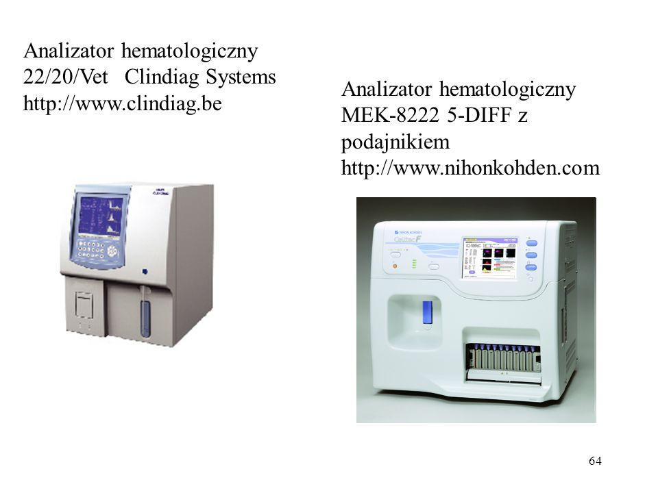 Analizator hematologiczny 22/20/Vet Clindiag Systems http://www