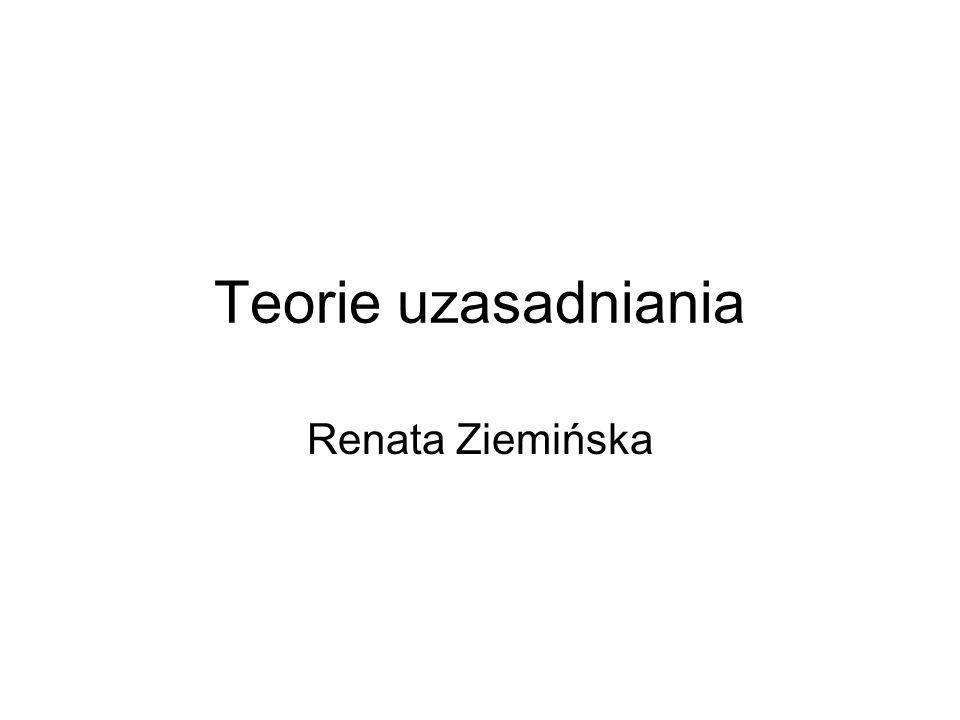 Teorie uzasadniania Renata Ziemińska