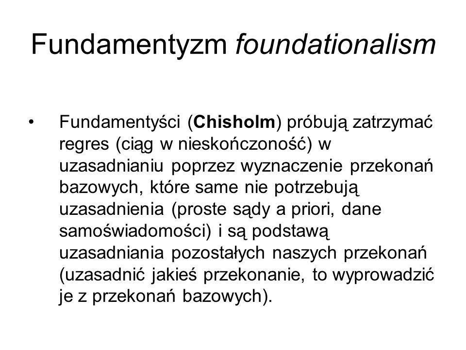 Fundamentyzm foundationalism
