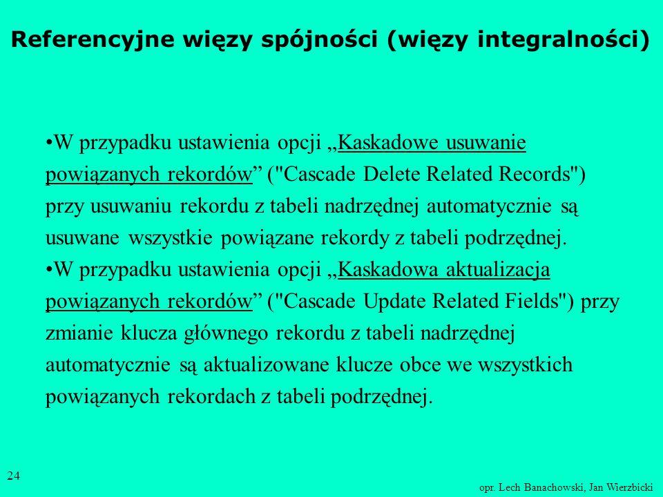 Referencyjne więzy spójności (więzy integralności)