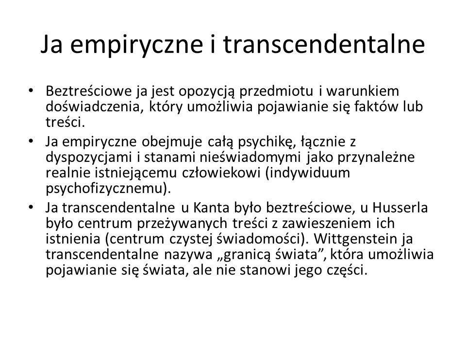 Ja empiryczne i transcendentalne