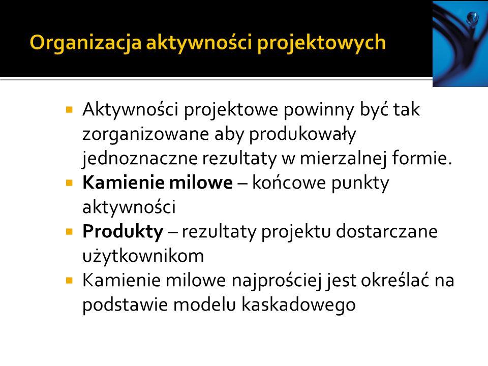 Organizacja aktywności projektowych