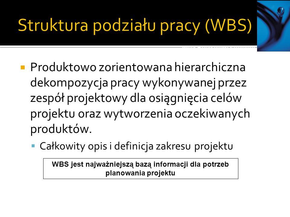 Struktura podziału pracy (WBS)