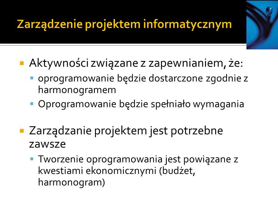 Zarządzenie projektem informatycznym