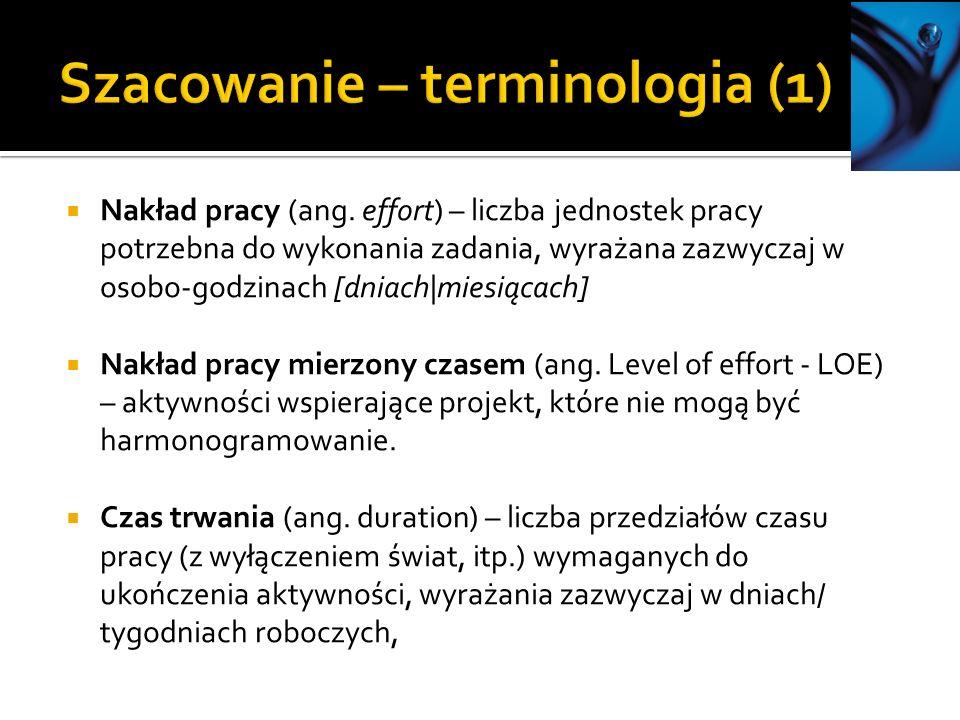 Szacowanie – terminologia (1)