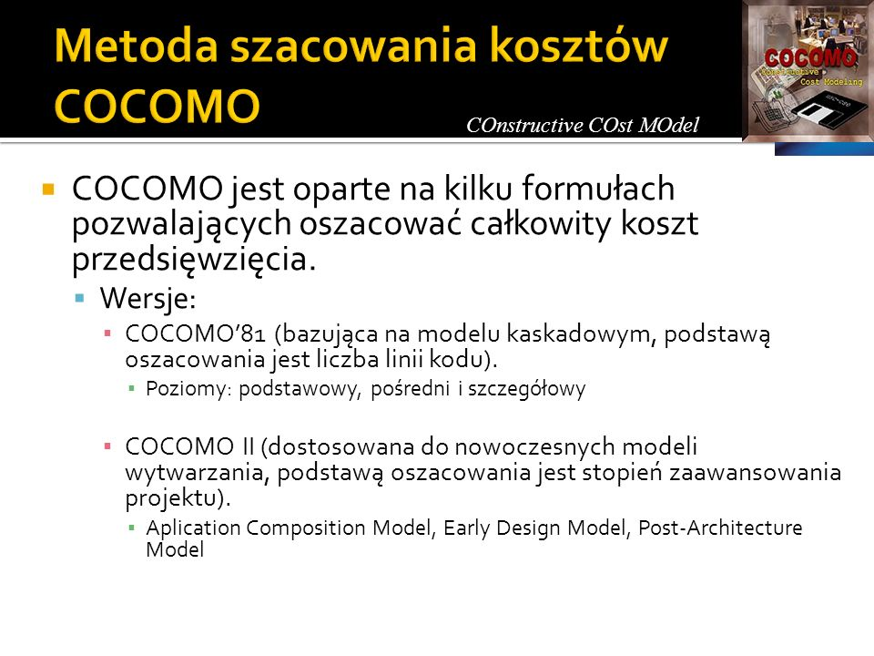 Metoda szacowania kosztów COCOMO