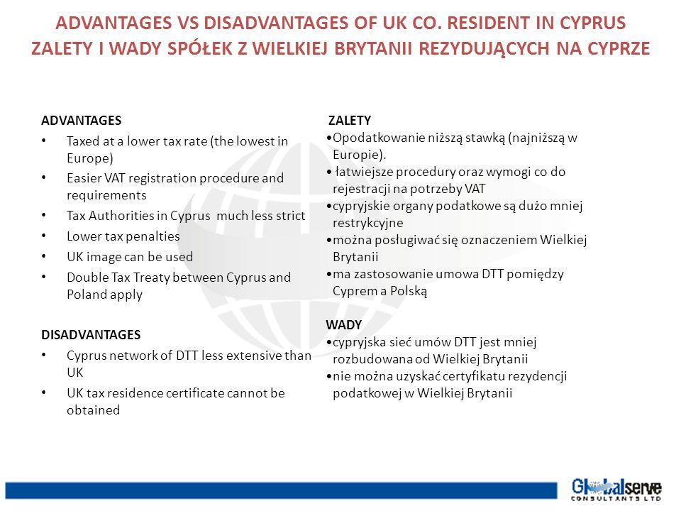 ADVANTAGES VS DISADVANTAGES OF UK CO