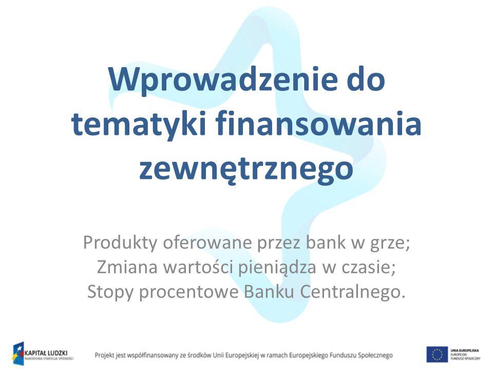 Wprowadzenie do tematyki finansowania zewnętrznego