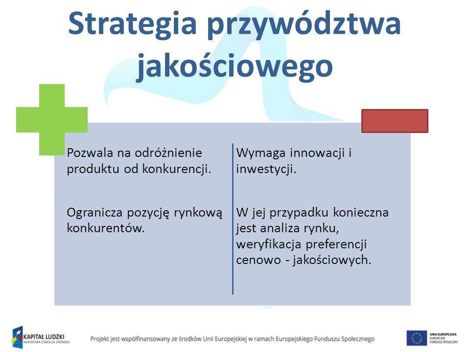 Strategia przywództwa jakościowego