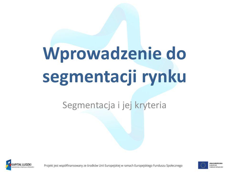 Wprowadzenie do segmentacji rynku