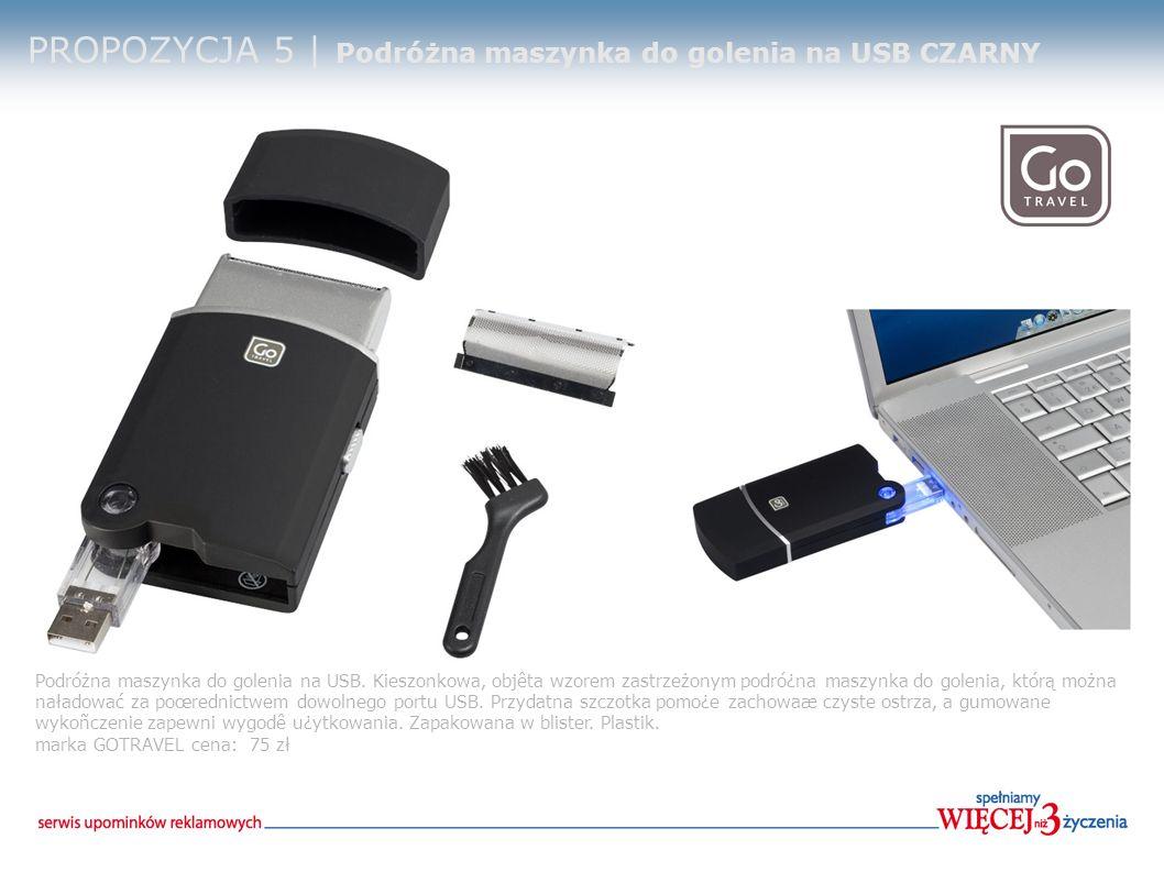 PROPOZYCJA 5 | Podróżna maszynka do golenia na USB CZARNY