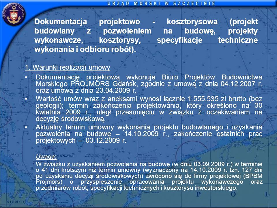 Dokumentacja projektowo - kosztorysowa (projekt budowlany z pozwoleniem na budowę, projekty wykonawcze, kosztorysy, specyfikacje techniczne wykonania i odbioru robót).