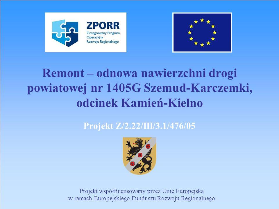 Remont – odnowa nawierzchni drogi powiatowej nr 1405G Szemud-Karczemki, odcinek Kamień-Kielno