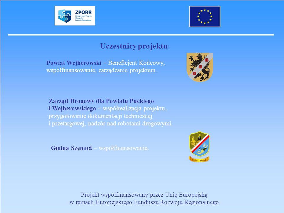 Uczestnicy projektu: Powiat Wejherowski – Beneficjent Końcowy, współfinansowanie, zarządzanie projektem.