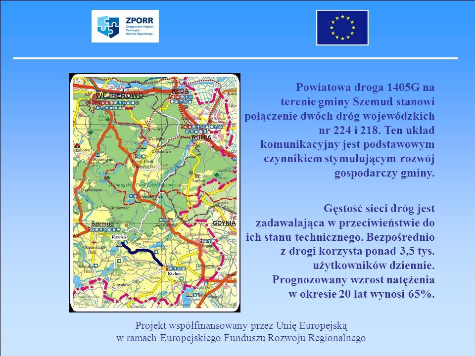 Powiatowa droga 1405G na terenie gminy Szemud stanowi połączenie dwóch dróg wojewódzkich nr 224 i 218. Ten układ komunikacyjny jest podstawowym czynnikiem stymulującym rozwój gospodarczy gminy.