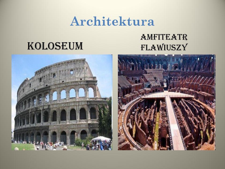 Architektura KOLOSEUM AMFITEATR FLAWIUSZY