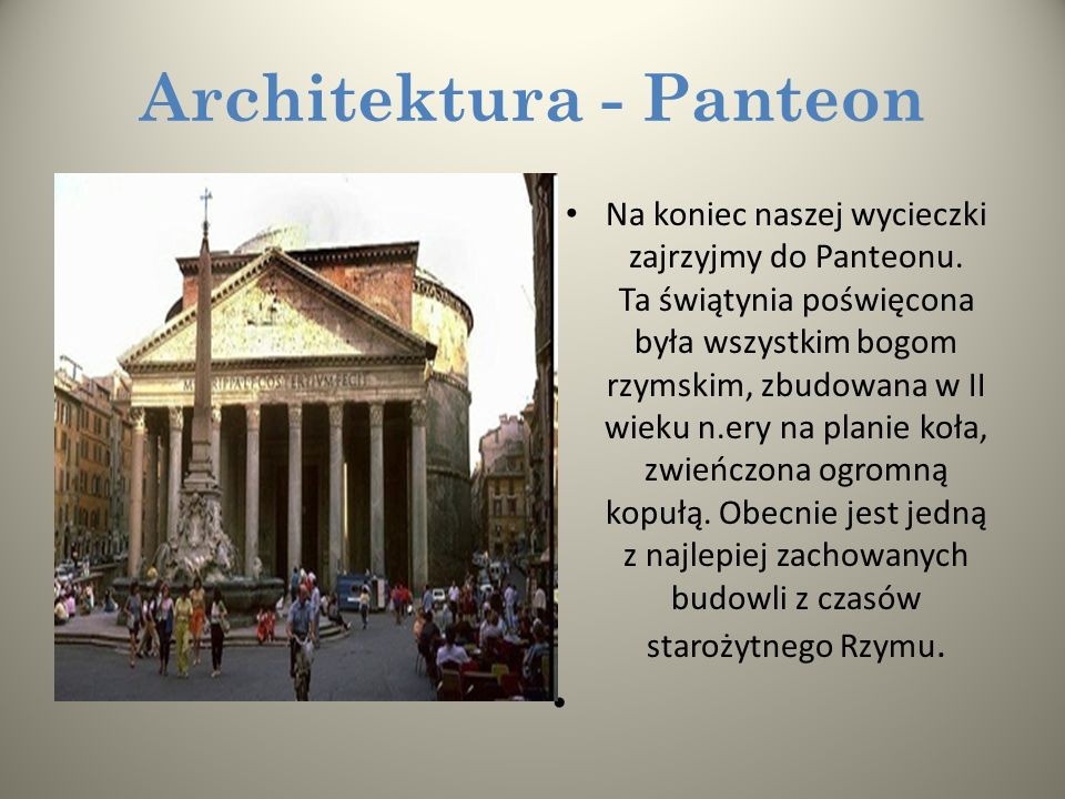 Architektura - Panteon