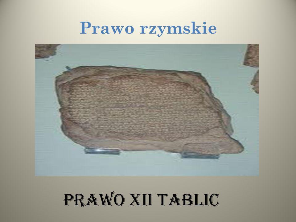 Prawo rzymskie Prawo XII tablic