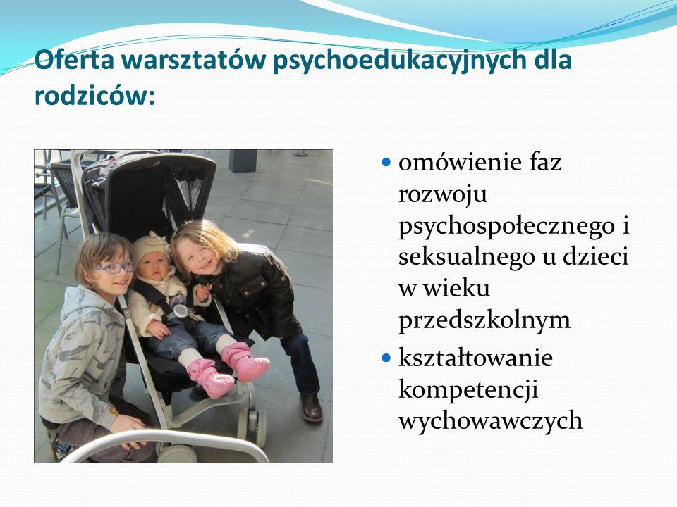 Oferta warsztatów psychoedukacyjnych dla rodziców: