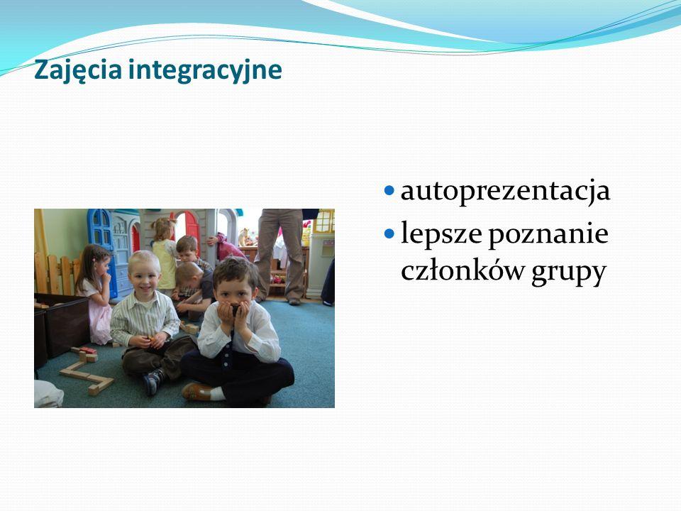 Zajęcia integracyjne autoprezentacja lepsze poznanie członków grupy